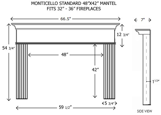 48X42 Kingston Standard Mantel
