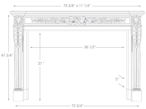 Auguste Mantel Illustration Diagram