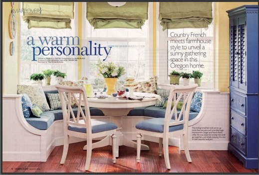 Wainscoting featured in the Creative Homes magazine