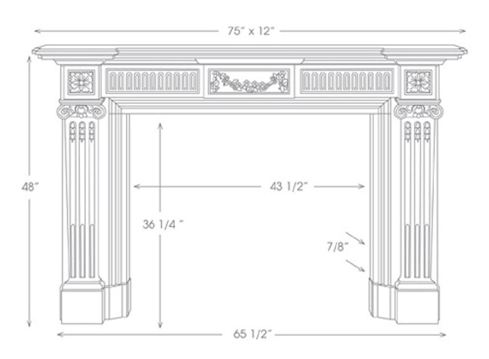 The Federal Marble Mantel