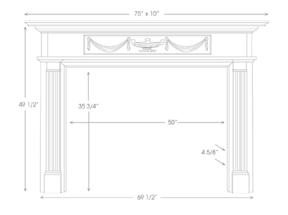 The Hamilton Marble Fireplace Mantels