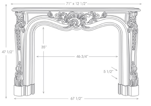 Orleans Mantel Illustration Diagram