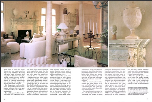 Renaissance Marble Mantel featured in the Southern Accents Magazine